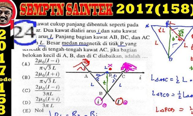 Sbmptn Dan Contoh Soal Pembahasan Soal Sbmptn 2017 Saintek 158