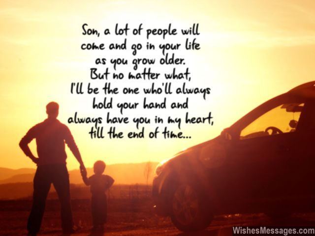 We Love You Son I Will Always Hold Your Hand Heart Quote From Mom Dad