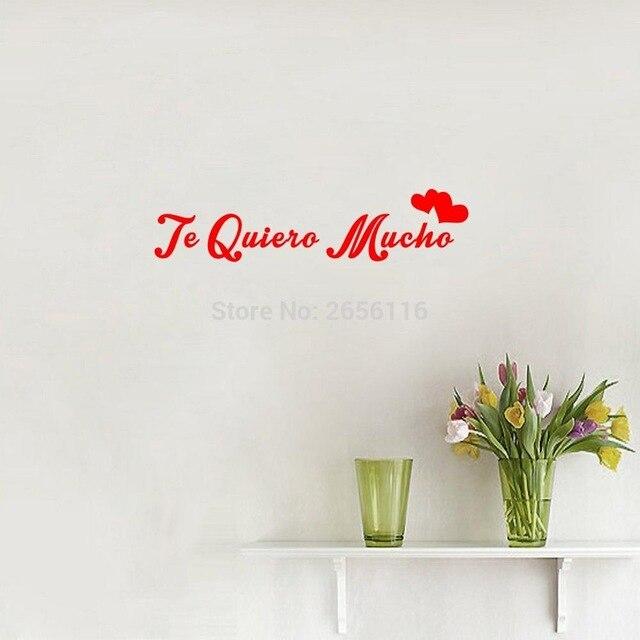 Spanisch Zitate Ich Liebe Dich So Viel Wandaufkleber Te Quiero Mucho Kunst Schriftzug Vinyl Wandtattoo Fur