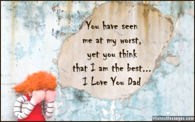Sweet Love Quote From Daughter To Dad