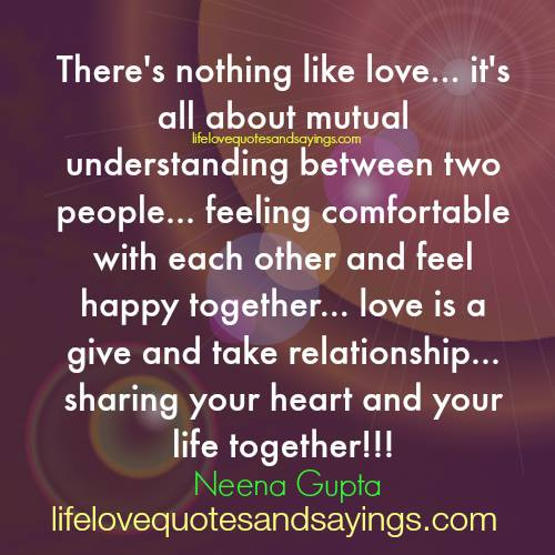 Love Quotes For Understanding Mutual Understanding Quotes Image At Hippoquotes