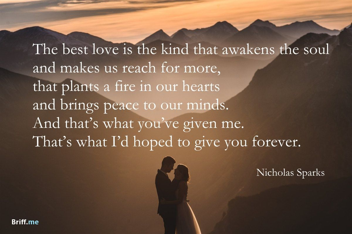Best Wedding Quotes Love Forever By Nicholas Sparks