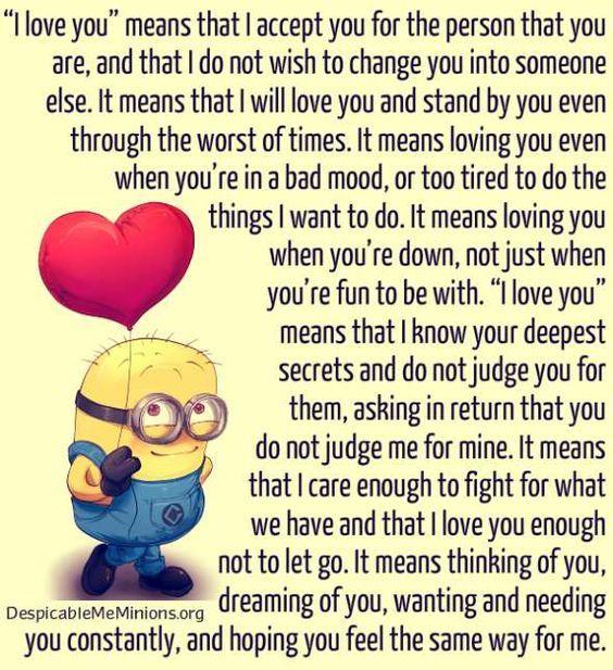 Top  Minion Love Quotes Funny Minions Memes