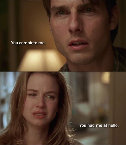 Jerry Maguire  Brilliant Cruise And Possibly The Best One Line In  C B Romantic Movie Quotesfavorite Movie Quotesfamous