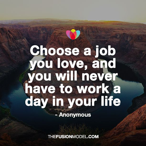Choose A Job You Love And You Will Never Have To Work Another Day In Your Life Anonymous