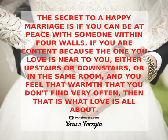 Bruce Forsyth Marriage Quotes