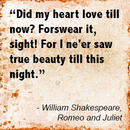 Love Quotes From Romeo And Juliet For The Hopeless Romantic
