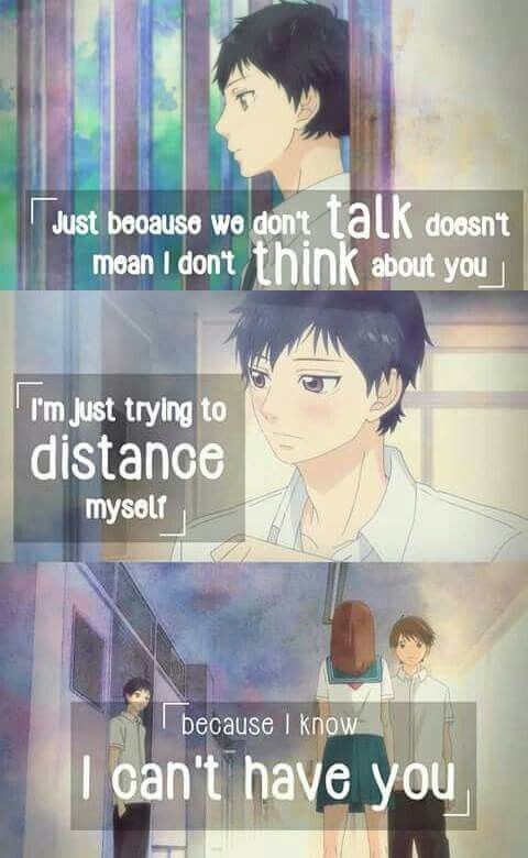 Dont Give Up On Someone You Love Sad Anime Quotes
