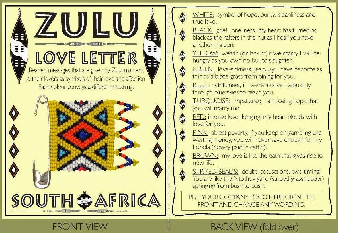 The Zulu Love Letter Ubhala Abuyise Meaning One Writes In Order That The Other Should Reply That Is Unique To The Zulu It Is A Private And Public