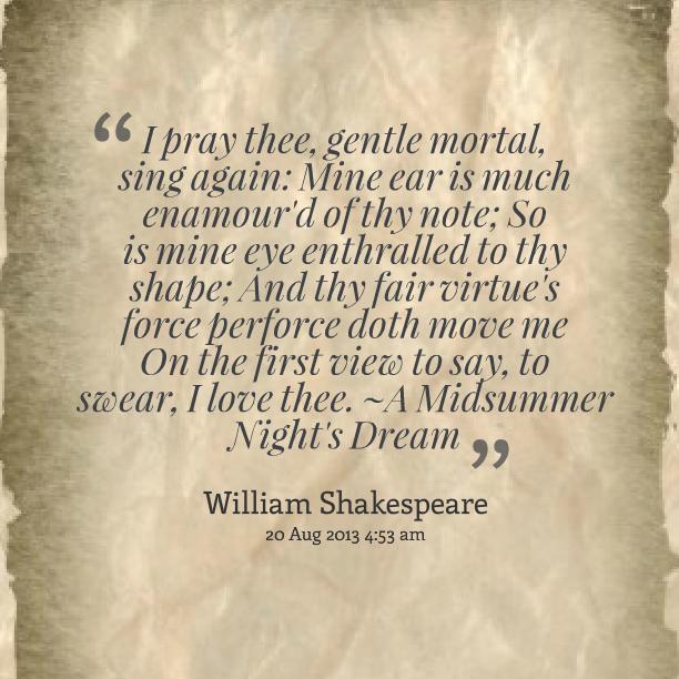Shakespeare A Midsummer Nights Dream