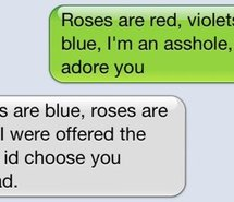 Cute Poem Red Roses Roses Are Red Text Violet