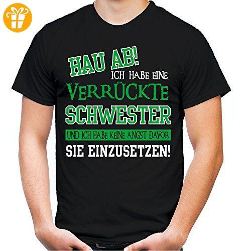 Verruckte Schwester T Shirt Geburtstag Geschenk Geschenkidee Spruche Zitate Kostum