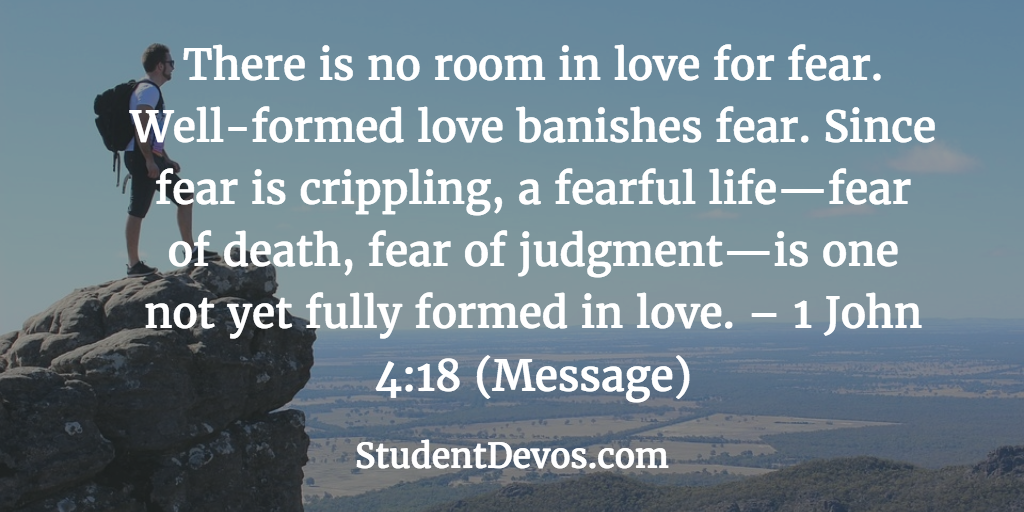 Daily Bible Verse Devotion Fear Love