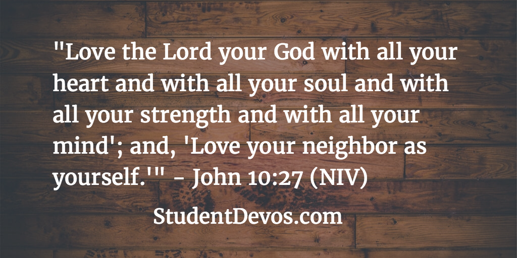 Daily Devotion And Bible Verse On John
