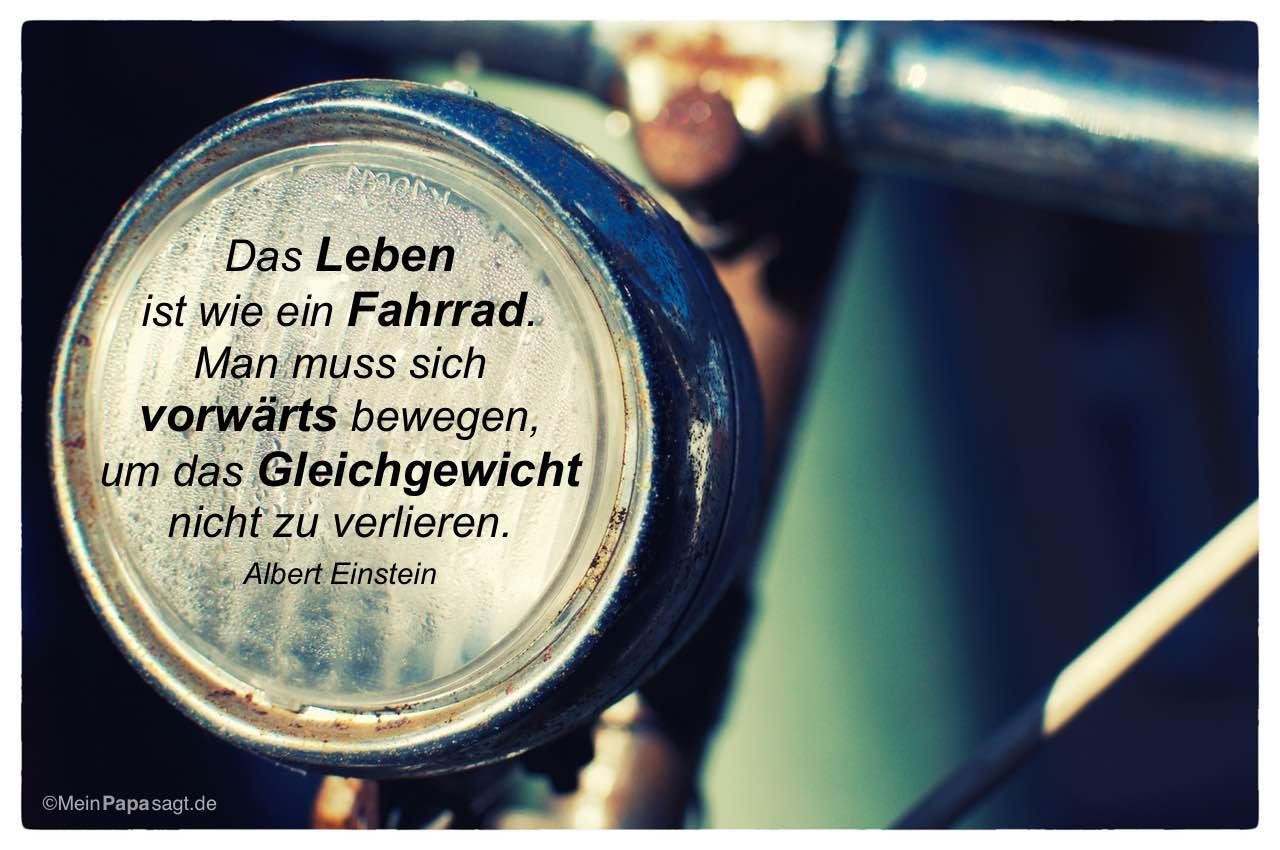 Altes Fahrrad Mit Dem Albert Einstein Zitat Das Leben Ist Wie Ein Fahrrad Man