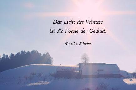Winterbild Mit Zitat