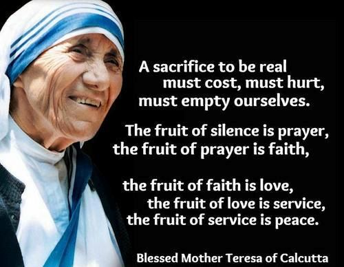 Mother Teresa Quotes About Service Quotesgram