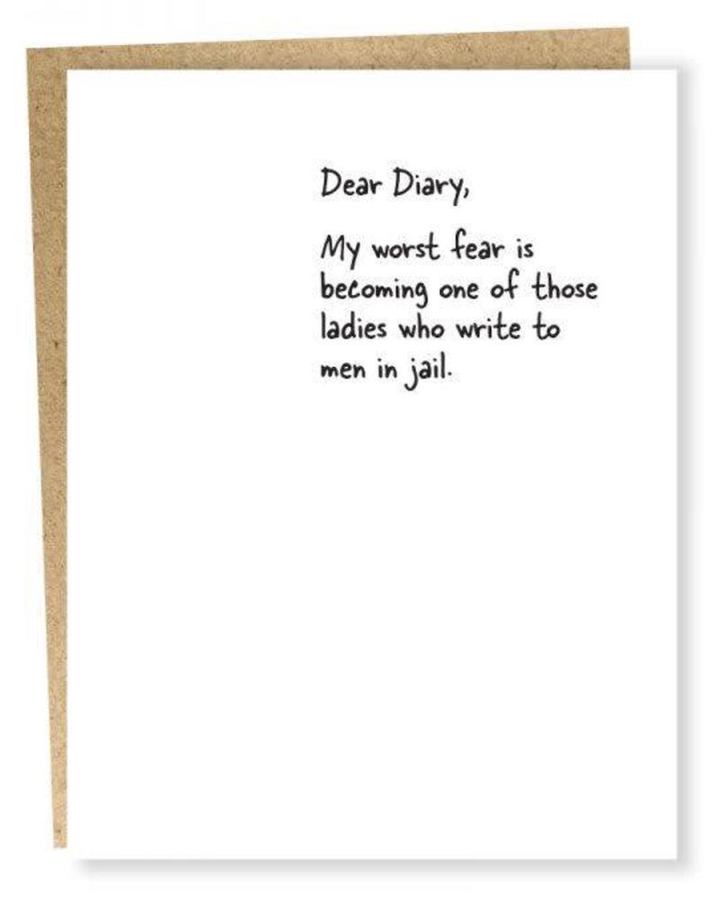 Dear Diary Jail Card
