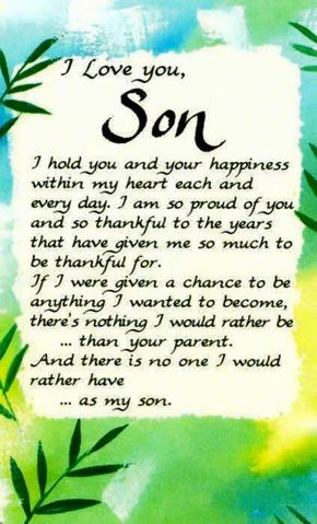 I Love You Son Quotes Quote Quotes Mother Quotes Son Quotes