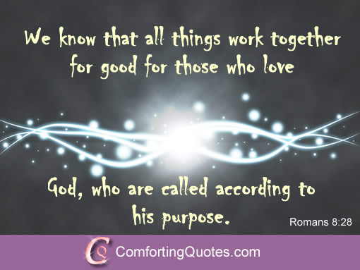 Biblical Quote About Love We Know That All Things Work Together