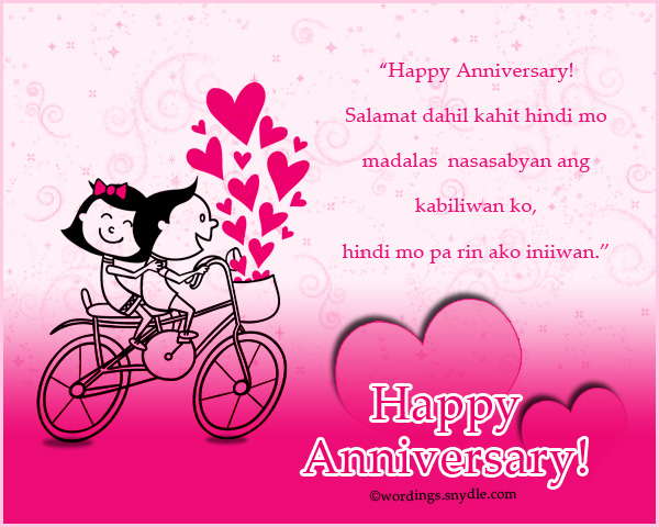Tagalog Happy Anniversary Messages And Wishes