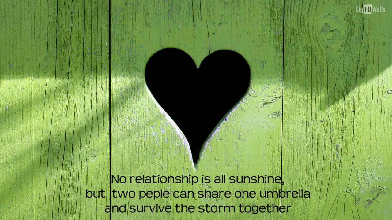 Green Heart Quote Love