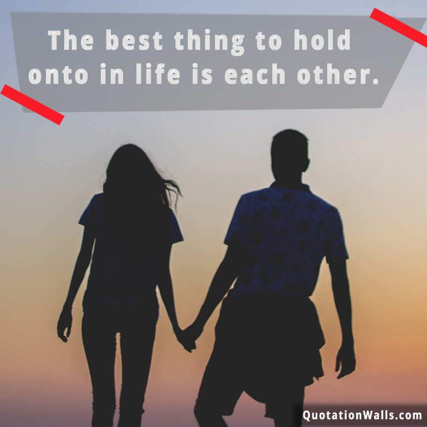 Hold Each Other Whatsapp Dp