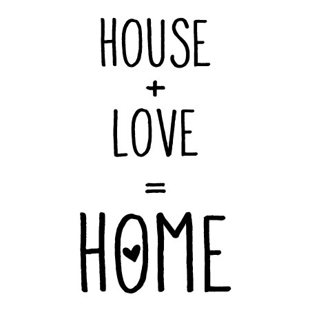 House Love Home Wall Quotes Vinyl Wall Decal Family Farmhouse Rustic Vintage