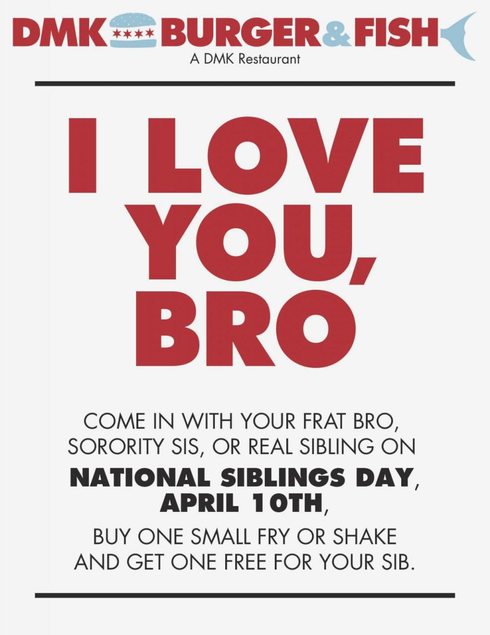 I Love You Bro National Sibling Day