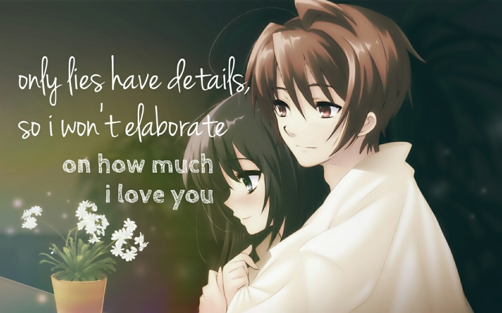 Love Anime Couple Picture With Quotes