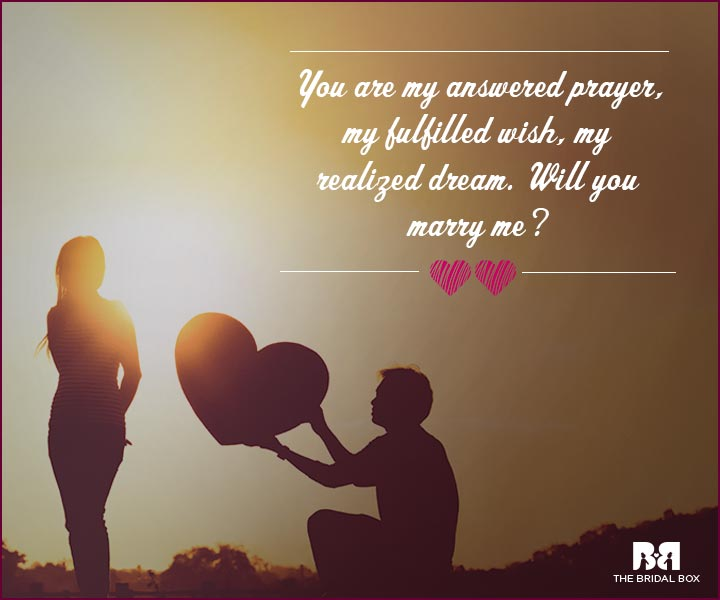 Love Proposal Quotes My Fulfilled Wish