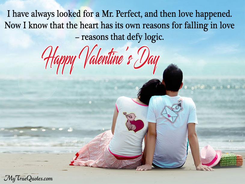 Happy Valentines Day Quotes For Boyfriend With Greeting Image