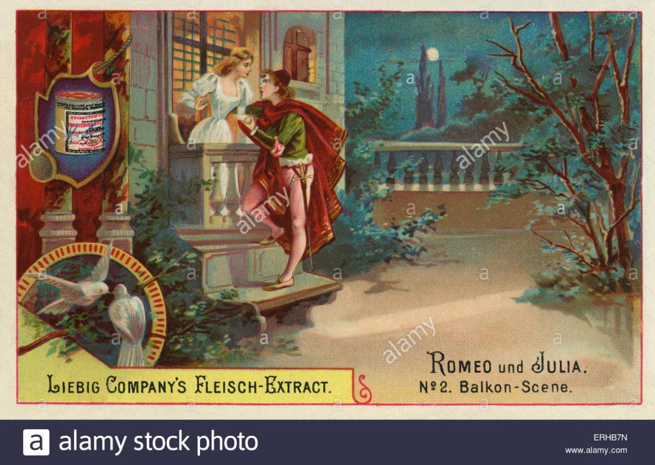 Romeo Und Julia Von William Shakespeare Szene Beschriftung Balkonszene