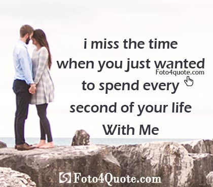 Lovely Couple Image On Beach Standing On Rocks With Sad Love Quote About Missing The