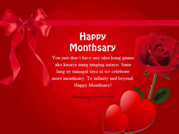 Tagalog Happy Monthsary Messages