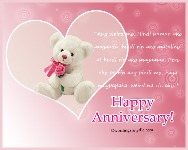 Tagalog Love Quotes For Wedding Anniversary Wedding Wishes Tagalog Words Inspiring