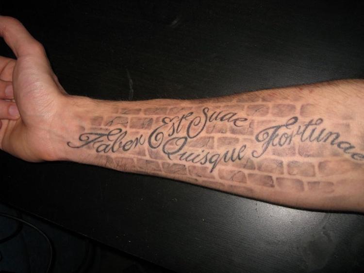 Tattoo Spruch Latein Faber Est Suae Quisque Fortunae  Vorschlage Fur Kurze Tattoo Spruche Auf Latein Und Griechisch