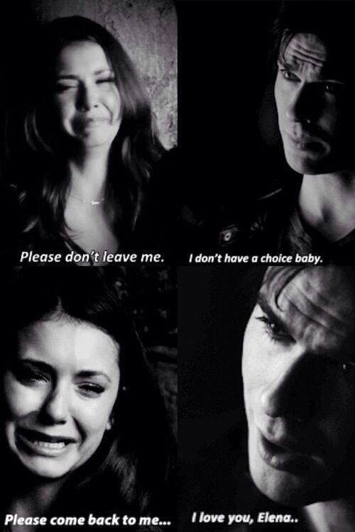 Love Quote Black And White The Vampire Diaries Elena Gilbert Damon Salvatore Sad Quotes Ian Somerhalder