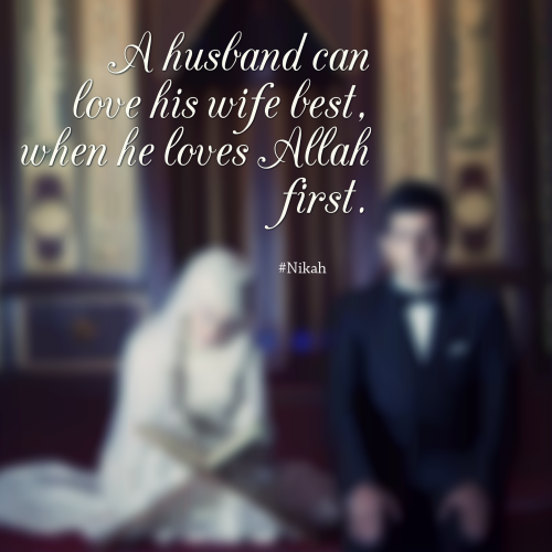Islam Love Heart Cute Couple Praying Nikah Wedding Marriage Husband Wife Quotes