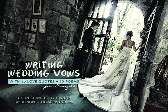Writing Wedding Vows With  Love Quotes And Poems For Couples
