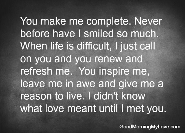You Complete Me Love Quotes For Him