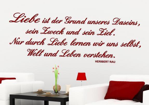 Wandtattoo Wand Aufkleber Zitat Liebe Wandtattoos