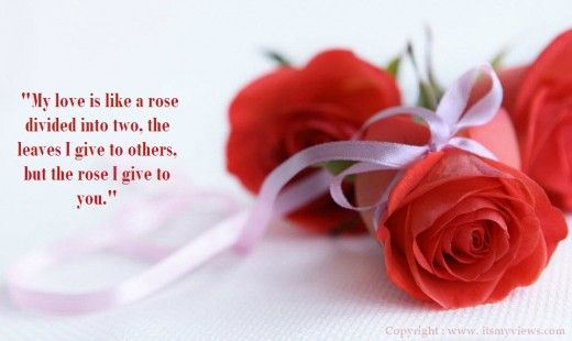 Beautiful Red Rose Pictures With Romantic Love Quotes