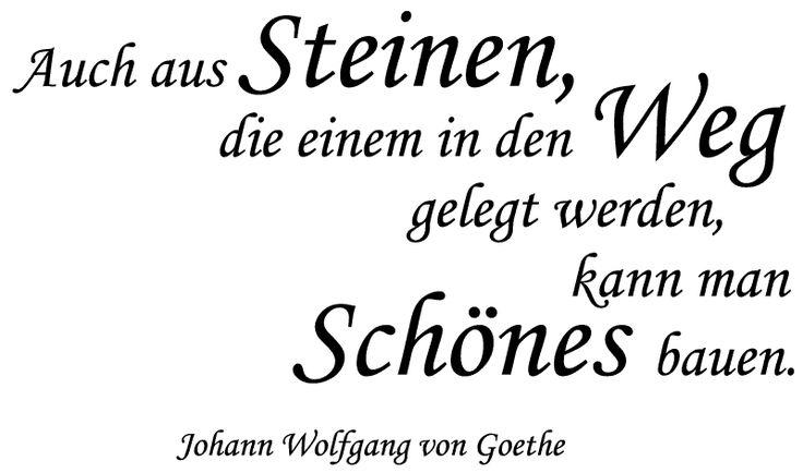 Wandtattoos Spruch Zitat Goethe Steine Weg Wandaufkleber Von Druckundplot De Shop