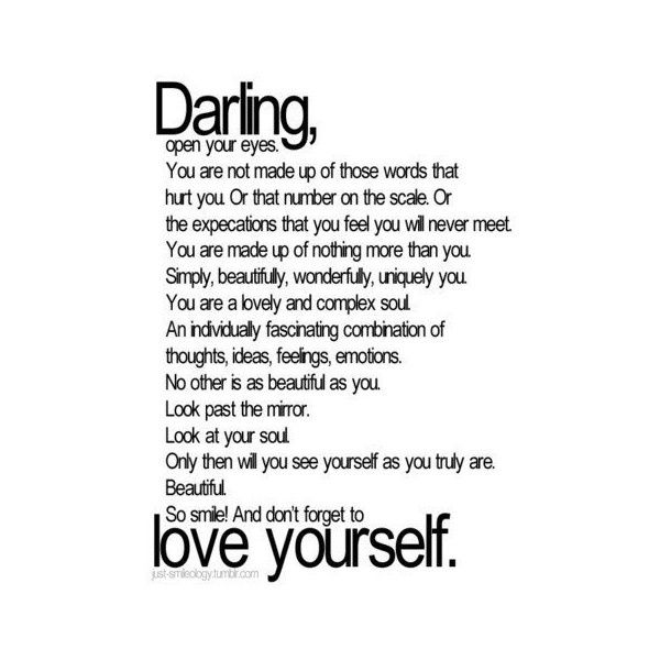 Love Yourself Quotes Tumblr Found On Polyvore