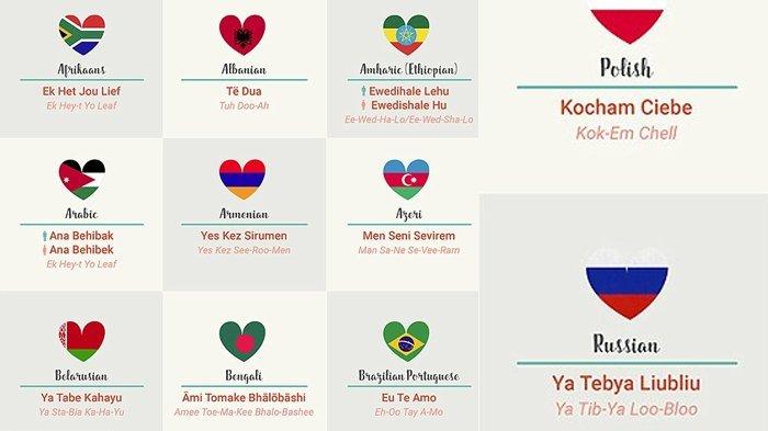Kata Cinta Dalam Berbagai Bahasa Di Dunia Katakan Cintamu
