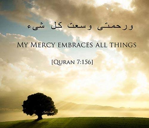 Beautiful Islamic Quotes My Mercy Em Ces All Things Quran  And Who Despairs From The