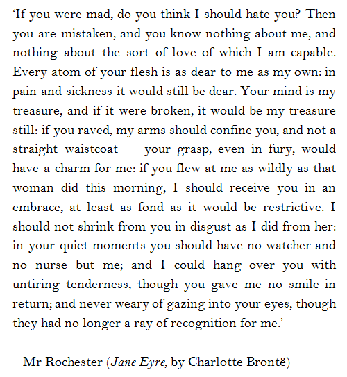Mr Rochester Jane Eyre By Charlotte Bronte This Quote Amazing