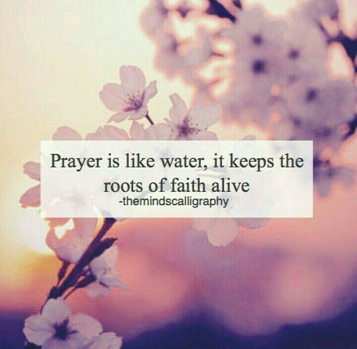 Prayer Is Like Water It Keeps The Roots Of Faith Alive