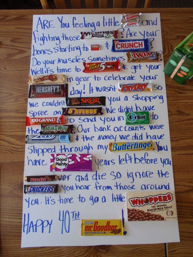 Candy Bar Poem For Co Workers Th Bday